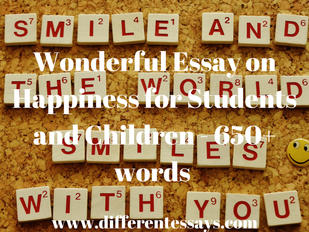 Wonderful Essay on Happiness for Students and Children - 650+ words