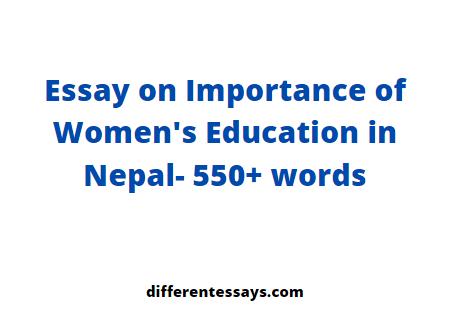 Essay on Importance of Women's Education in Nepal- 550+ words