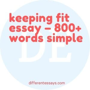 keeping fit essay