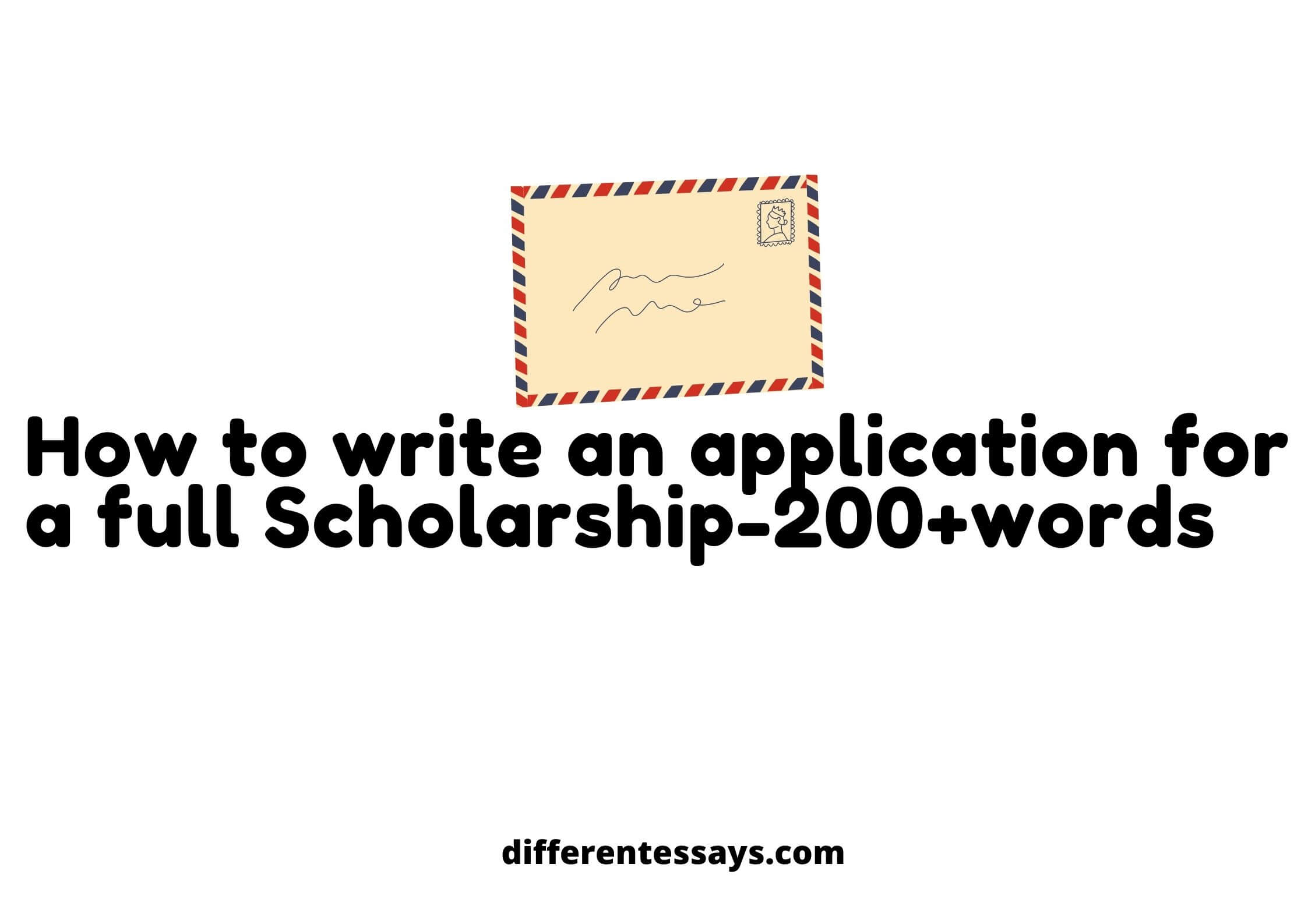 How to write an application for a full Scholarship