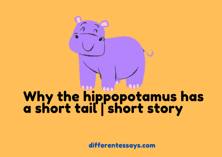 Why the hippopotamus has a short tail | short Story-300+ words